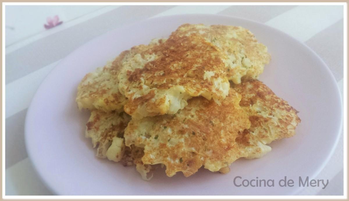 Tortitas de coliflor y atún